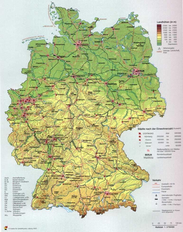 Deutschlandkarte Mit Stadten